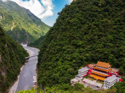 The Changchun Trail at Taroko Gorge National Park in Taiwan.