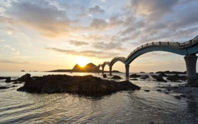 44093315 - the coast beautiful sunrise in taiwan sanxiantai