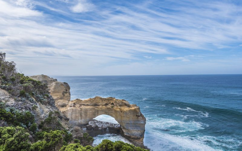The Arch rock formation in Port Campbell National Park off the Great Ocean Road in Victoria, Australia